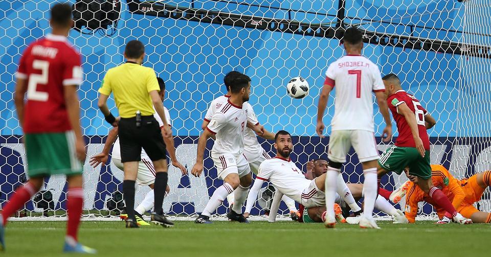 В атаке сборная команда Марокко