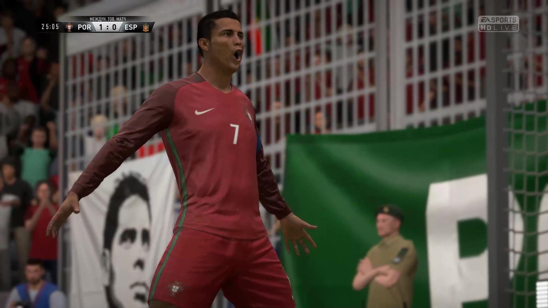 Роналду забивает первый гол Испании