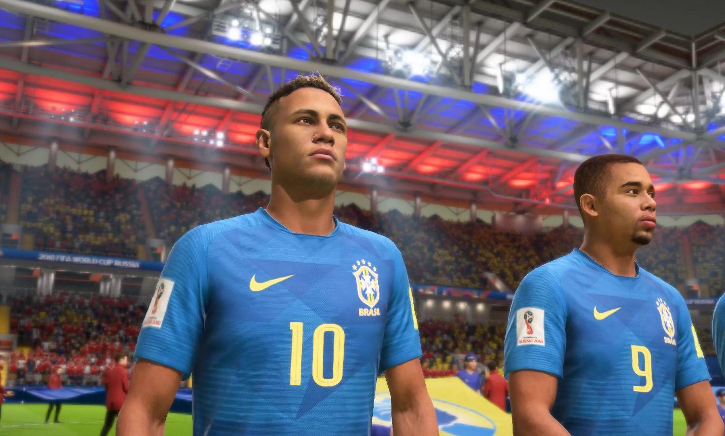 Скриншот Неймара Fifa18